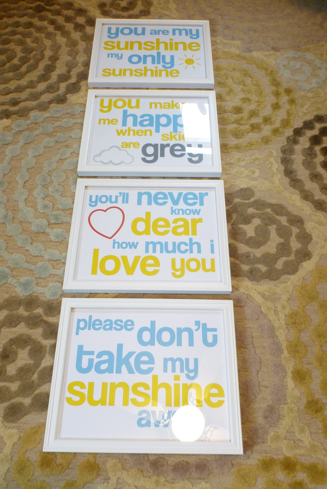 It's just a graphic of Satisfactory You Are My Sunshine Free Printable