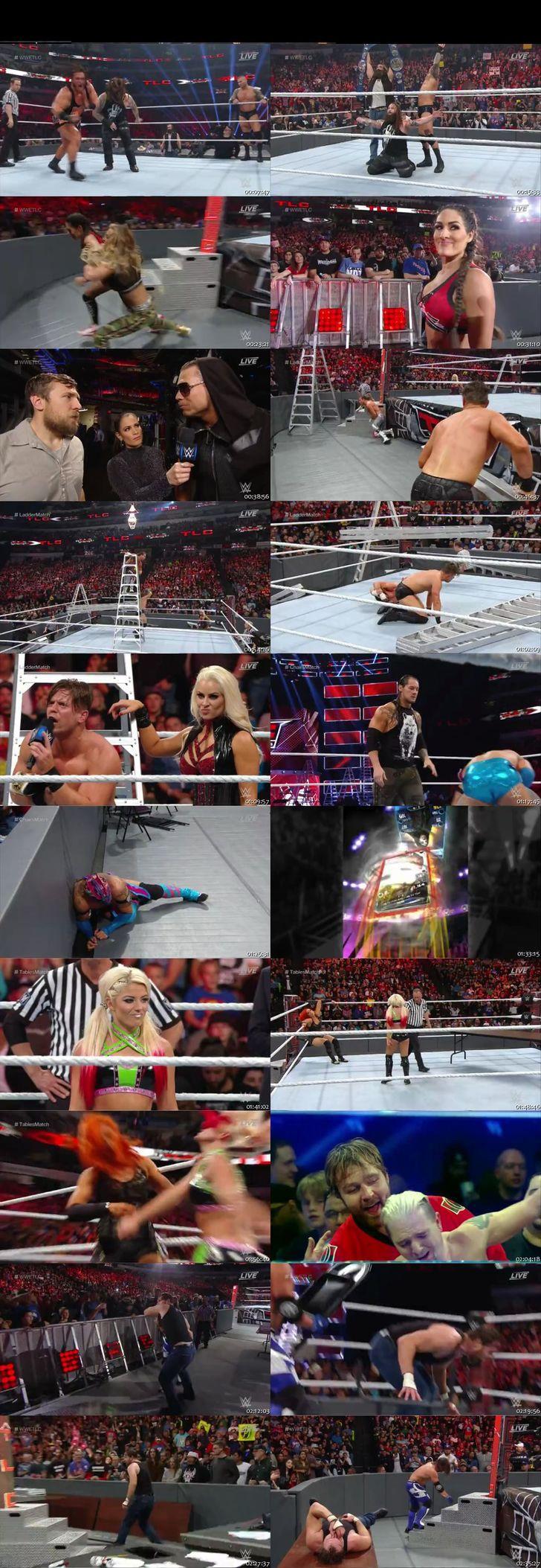 Screen Shot Of WWE TLC PPV 2016 480P 300MB