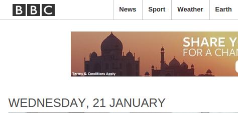 contoh tampilan website www.bbc.com