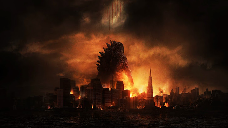 Godzilla 2014 City Destruction