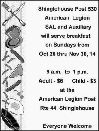 11-23 Breakfast At Shinglehouse Legion