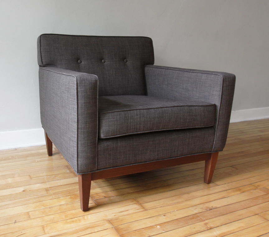 Str8mcm mid century modern sofa and club chair