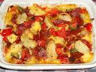 Gratinado de Calabresa+queijo+tomate+azeironas, etc etc