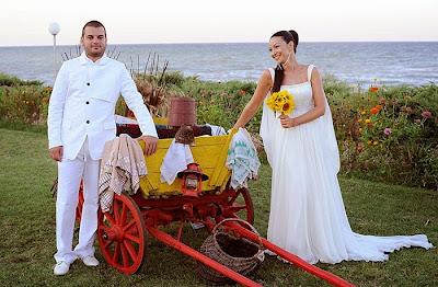 Иван и Вихра на сватбата им