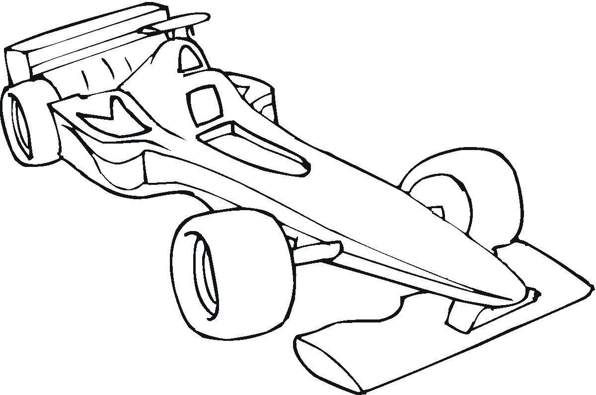 free go kart coloring pages - photo#11
