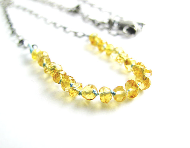 Sacred Sound Citrine Birthstone Necklace by Beth Hemmila of Hint Jewelry