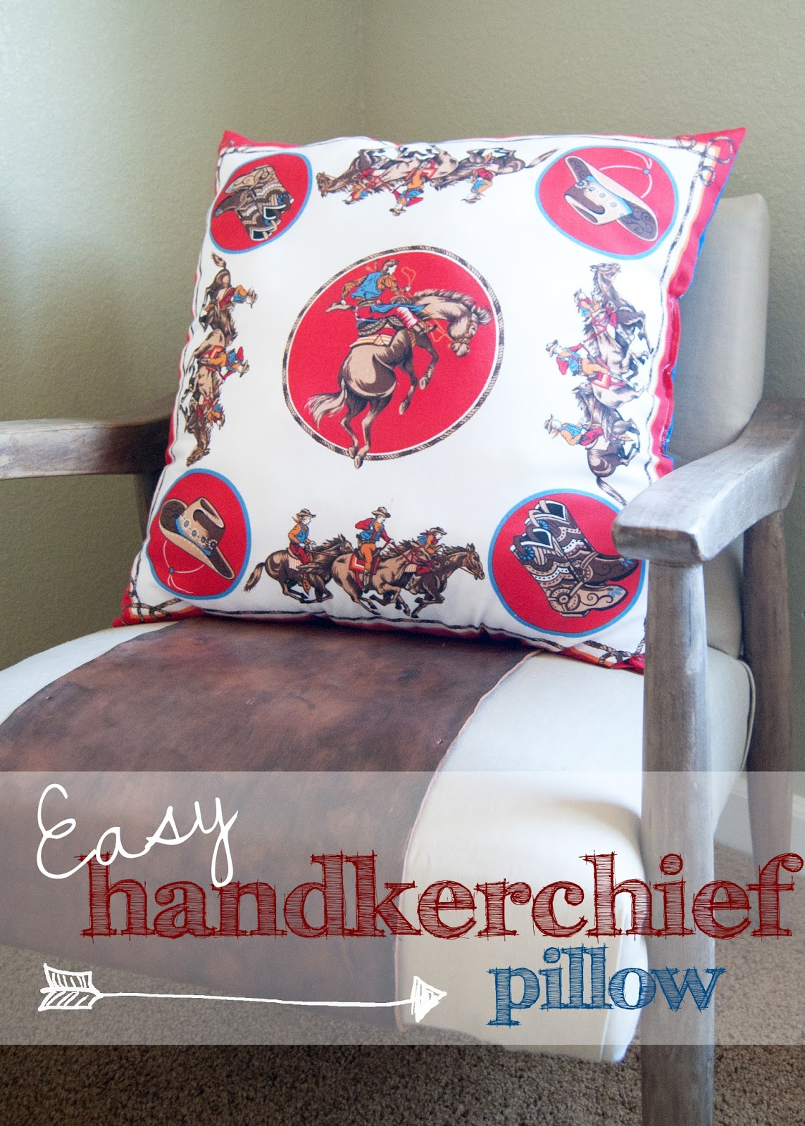 Easy Handkerchief pillow - step by step instructions