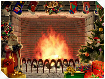Christmas Wallpapers And Images And Photos 3d Christmas Fireplace