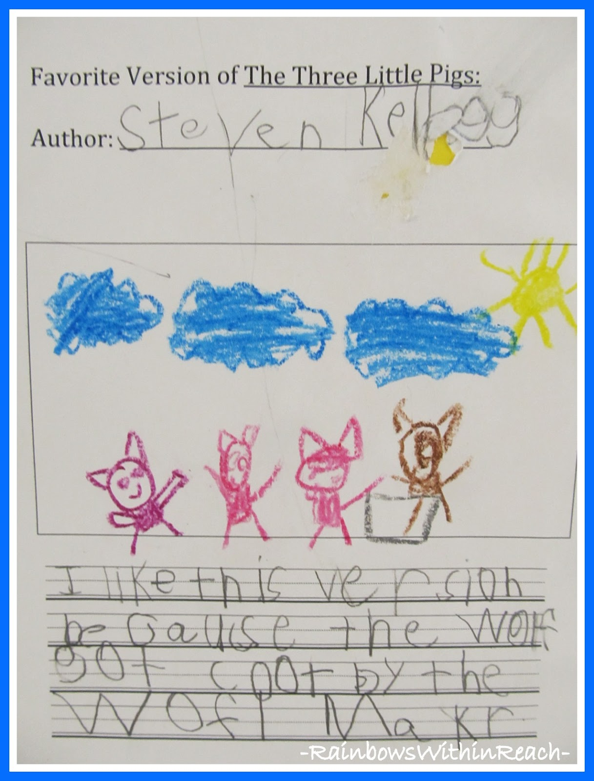 the 3 piglets essay The three little pigs essayswhen reading text book we learn about intertextuality, which is the technical term for a relationship between any form of literature that.