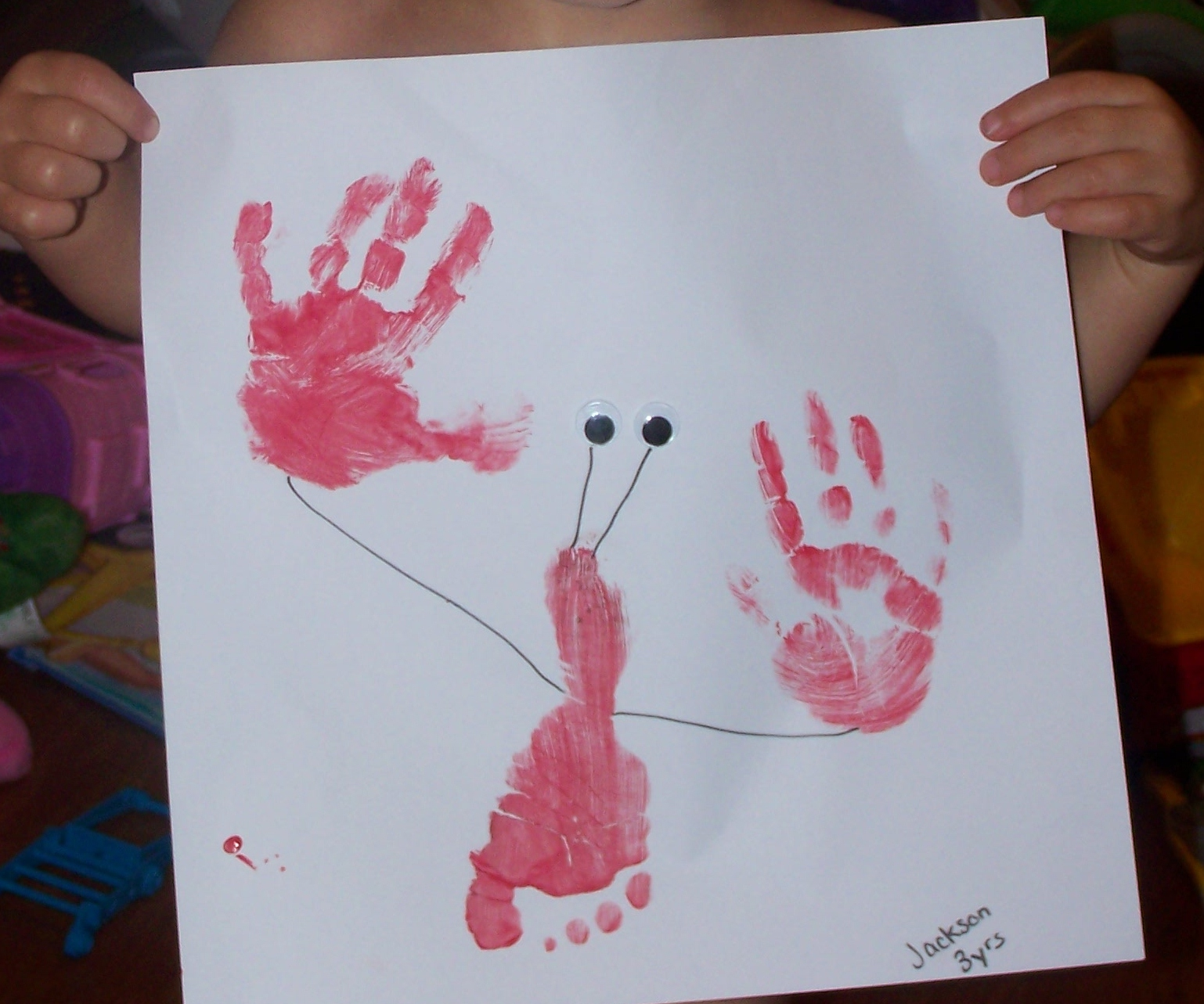 That gives me an idea hand footprint art for Hand and foot crafts