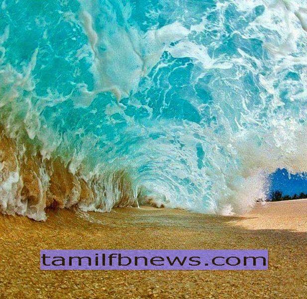 Photo Taken Below the sea Wave | அலைகள் அடியில் எடுக்கப்பட்ட புகைப்படம்