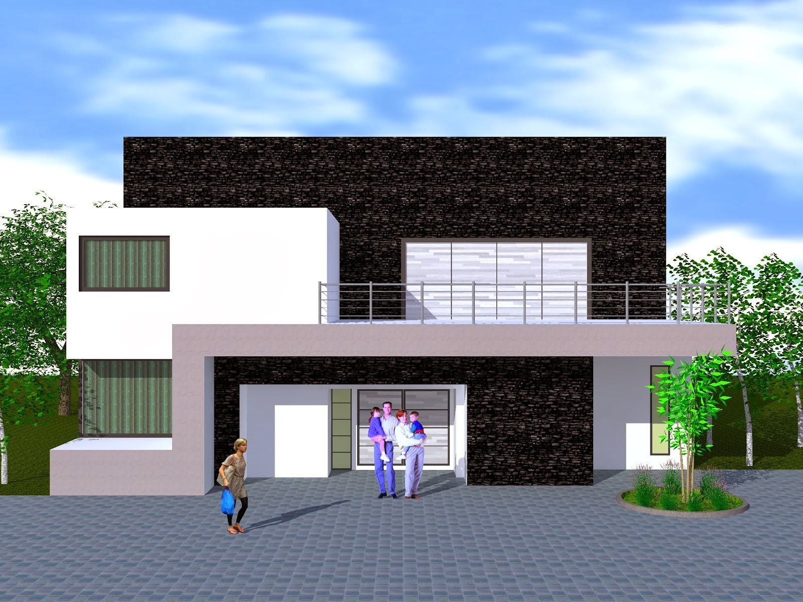Fachadas y casas excelentes im genes de fachadas for Diseno de fachadas minimalistas