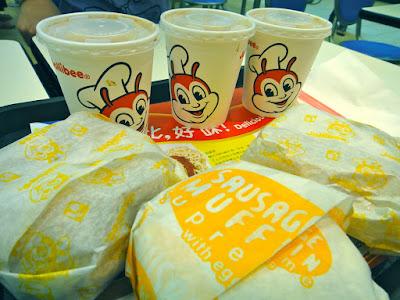 Breakfast at Jollibee Hong Kong