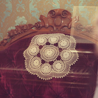 ByHaafner, crochet, doily, period room, museum Göteborg