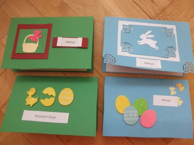 Arnoldziki: Kartki wielkanocne ręcznie robione