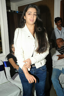 Actress Charmi Kaur Pictures in Jeans at One by Two Movie Celetes 20 Years Event 0099