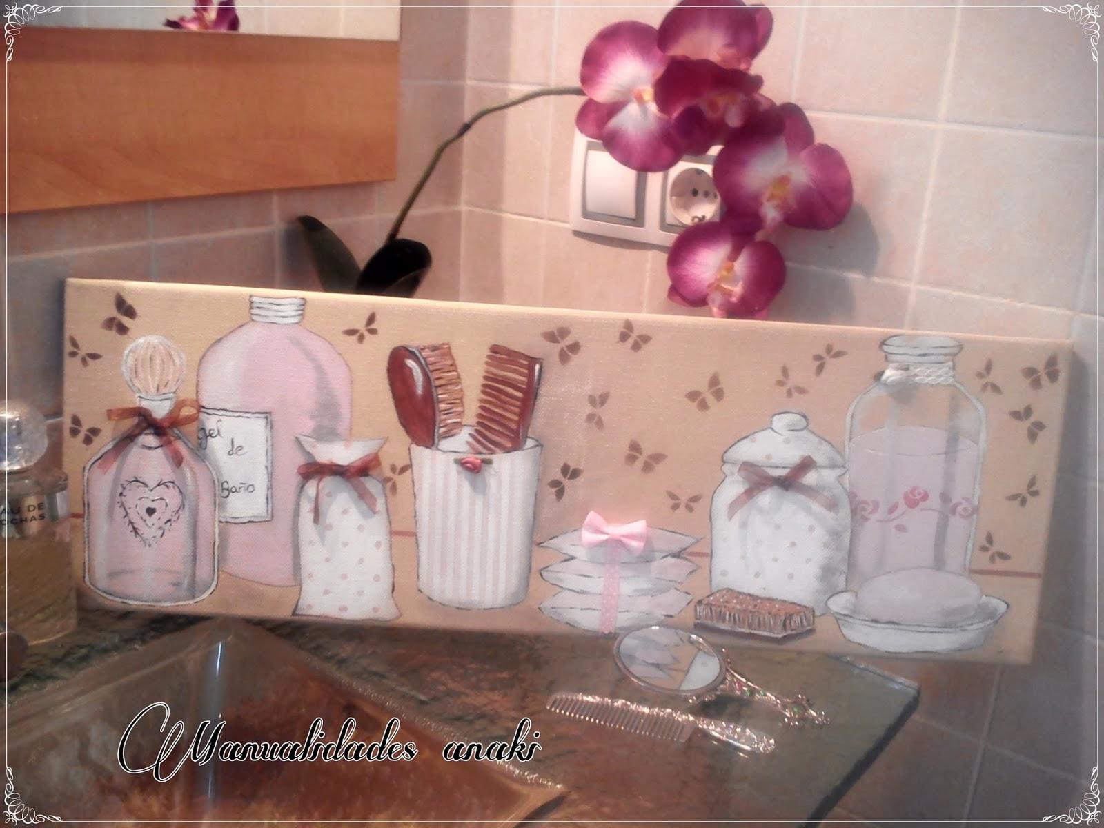 Decoracion Baño Cuadros:Deco Anaki Vintage: cuadro para baño en rosa