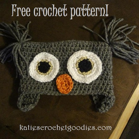 Free Crochet Pattern Owl Beanie : Free Owl Crochet Hat Pattern - Katies Crochet Goodies