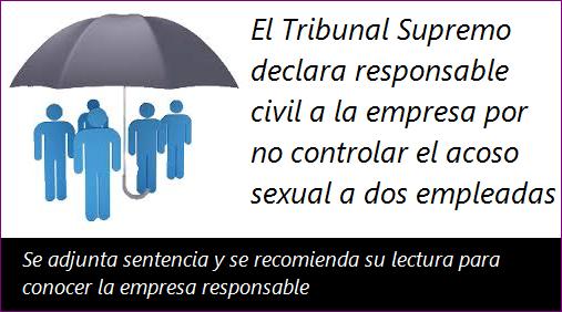 El Tribunal Supremo declara responsable civil a la empresa por no controlar el acoso sexual a dos empleadas