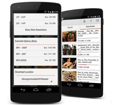 Aplikasi download video youtube Android - videoder