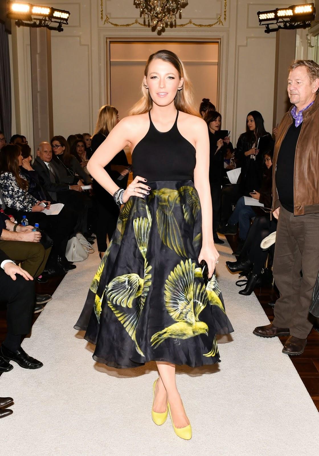 اطلالة مميزة لـ بليك ليفلي في عرض أزياء مارتشيسا في مدينة نيويورك