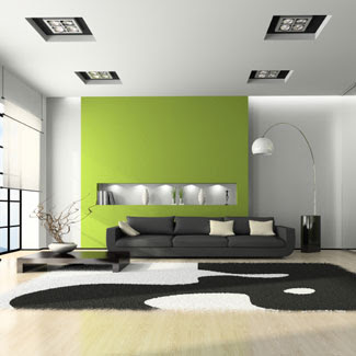 Great Green Living Room Design