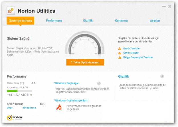 Norton Utilities 2014 Full Türkçe indir