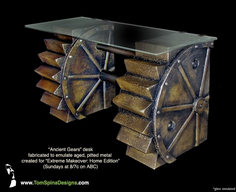 Simple Steampunk Desk I wouldn't mind this desk: