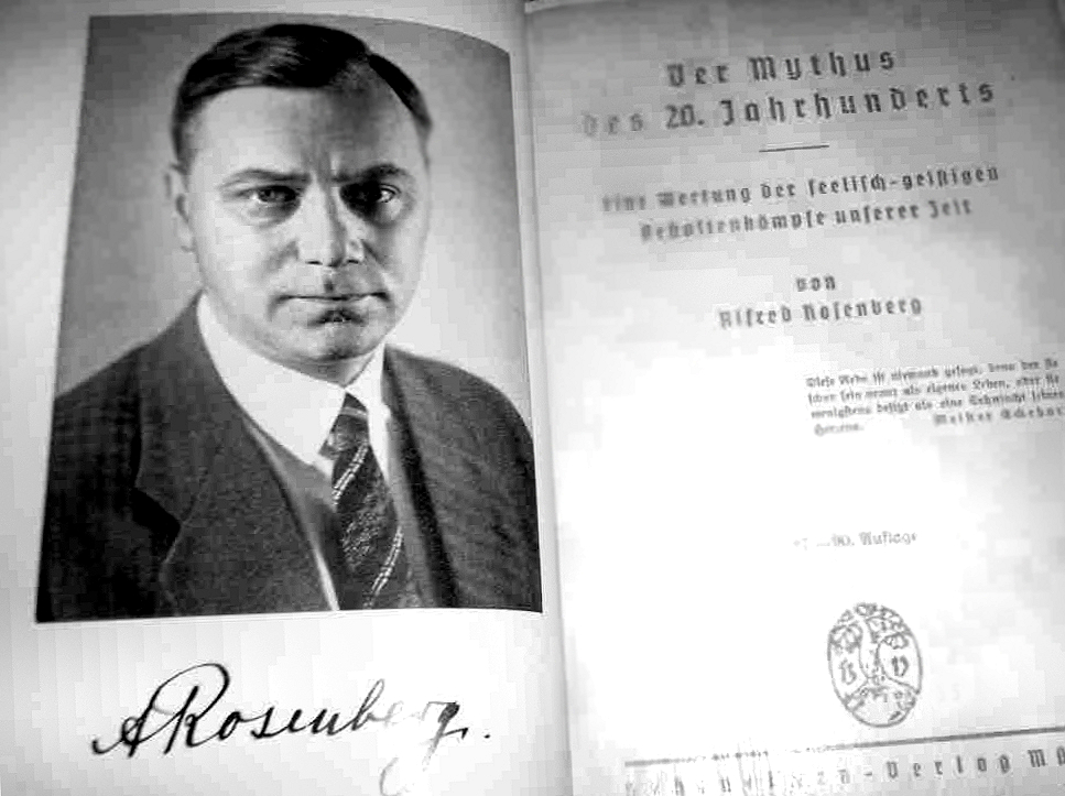 alfred rosenberg Alfred ernst rosenberg ( listen (help info)) (12 januar 1893 – 16 october 1946) wis an early an intellectually influential member o the nazi pairty.