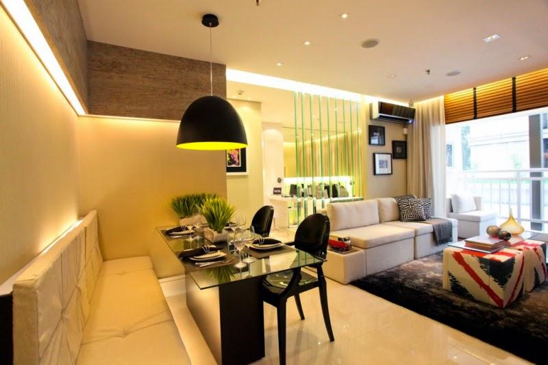 Salas de estar e jantar pequenas e integradas  veja dicas + modelos