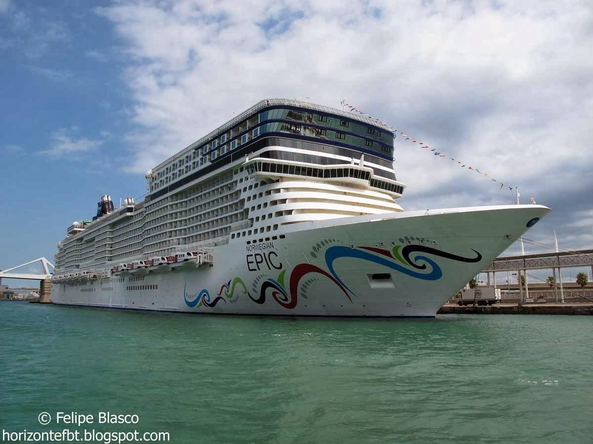 Crucero en el puerto de Barcelona