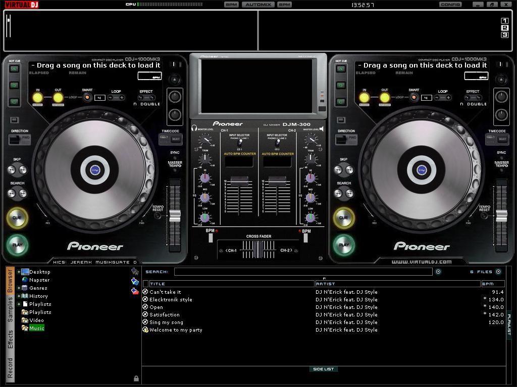 D b dj luan love d b virtual dj 6 0 - Table de mixage logiciel gratuit francais ...