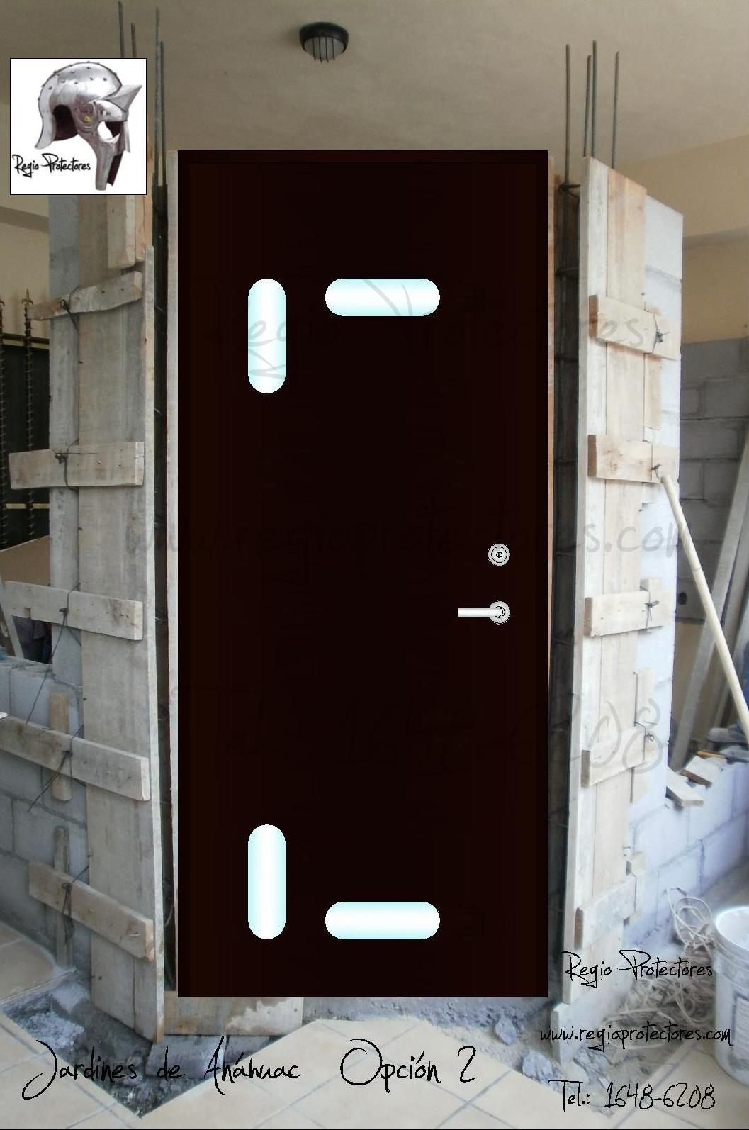 Regio protectores puerta principal contempor nea fracc for Fotos de puertas principales