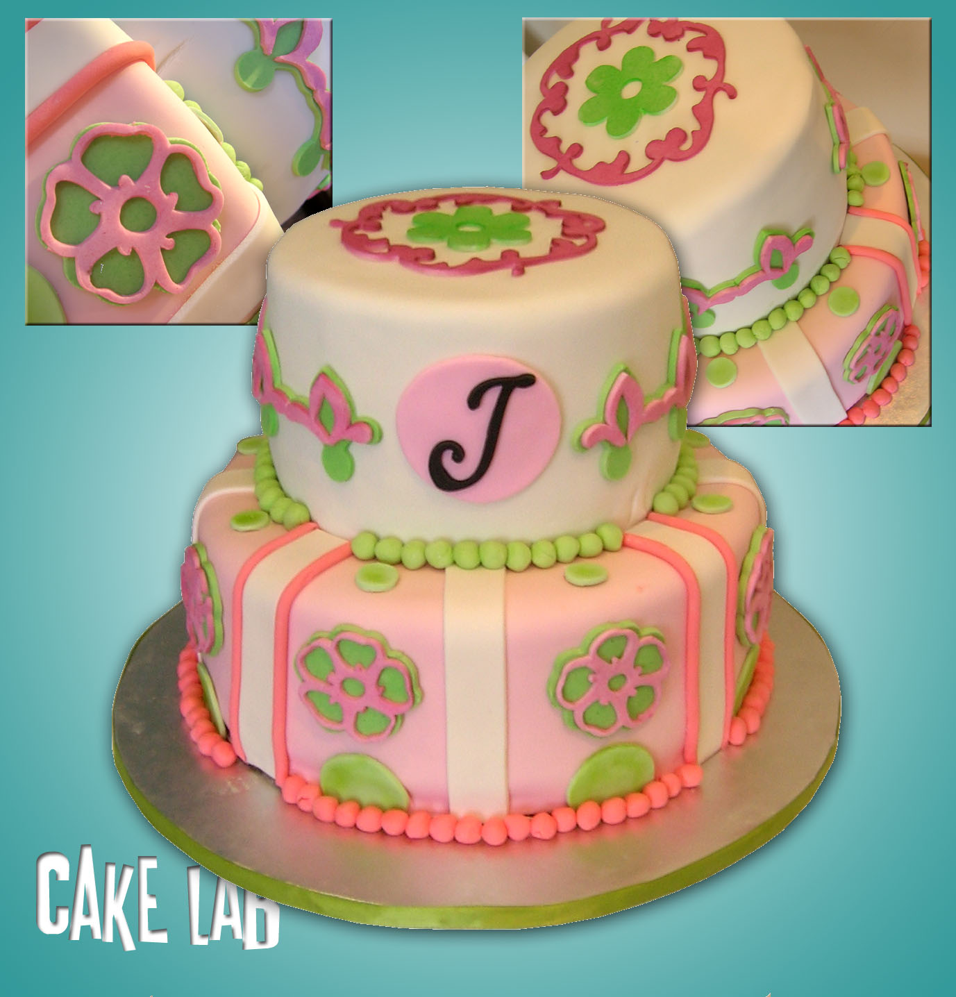 Zaco Cakes Pinkgreen 50th Birthday Cake