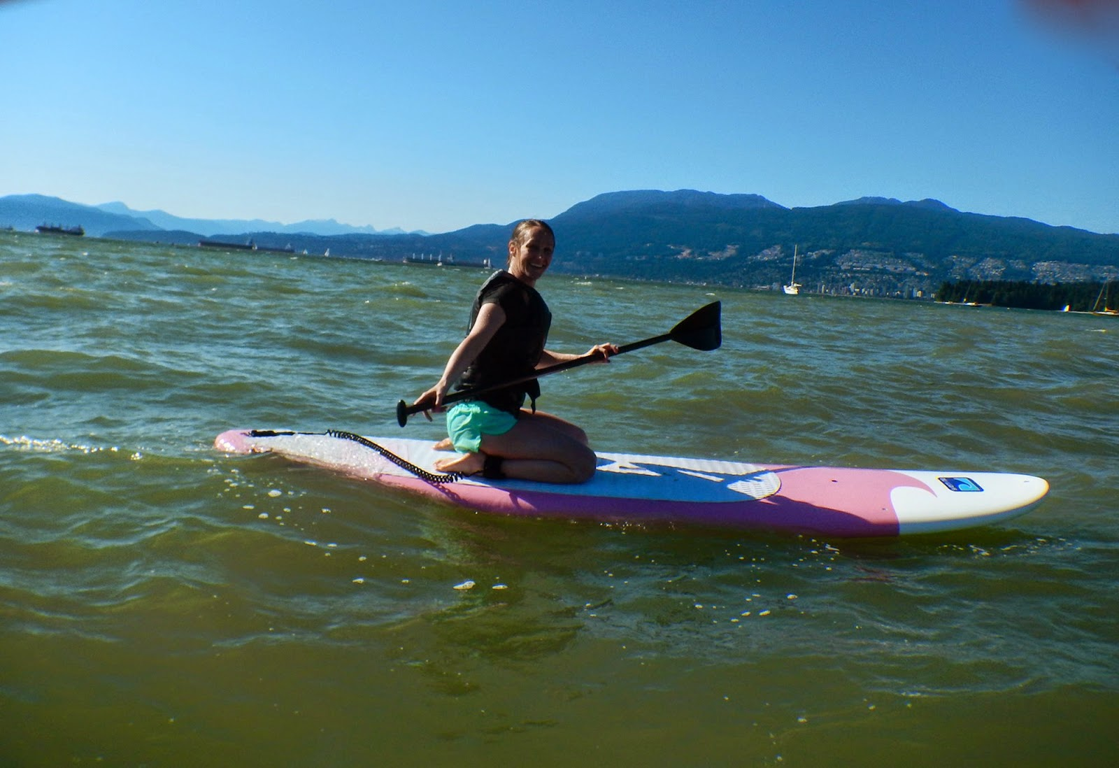 Paddleboarding in English Bay, Vancouver