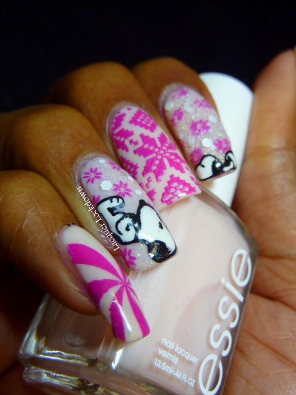 Lacquer Lockdown - MoYou London, Festive 03, RuiZ 02, nail art stamping, sweater nail art, nail art stamping blog, winter nail art, snoopy nail art, snoopy, winter nails, diy nail art, cute nail art ideas