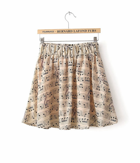 http://www.aupie.com/fashion-latest-note-print-casual-elastic-waist-skirt.html