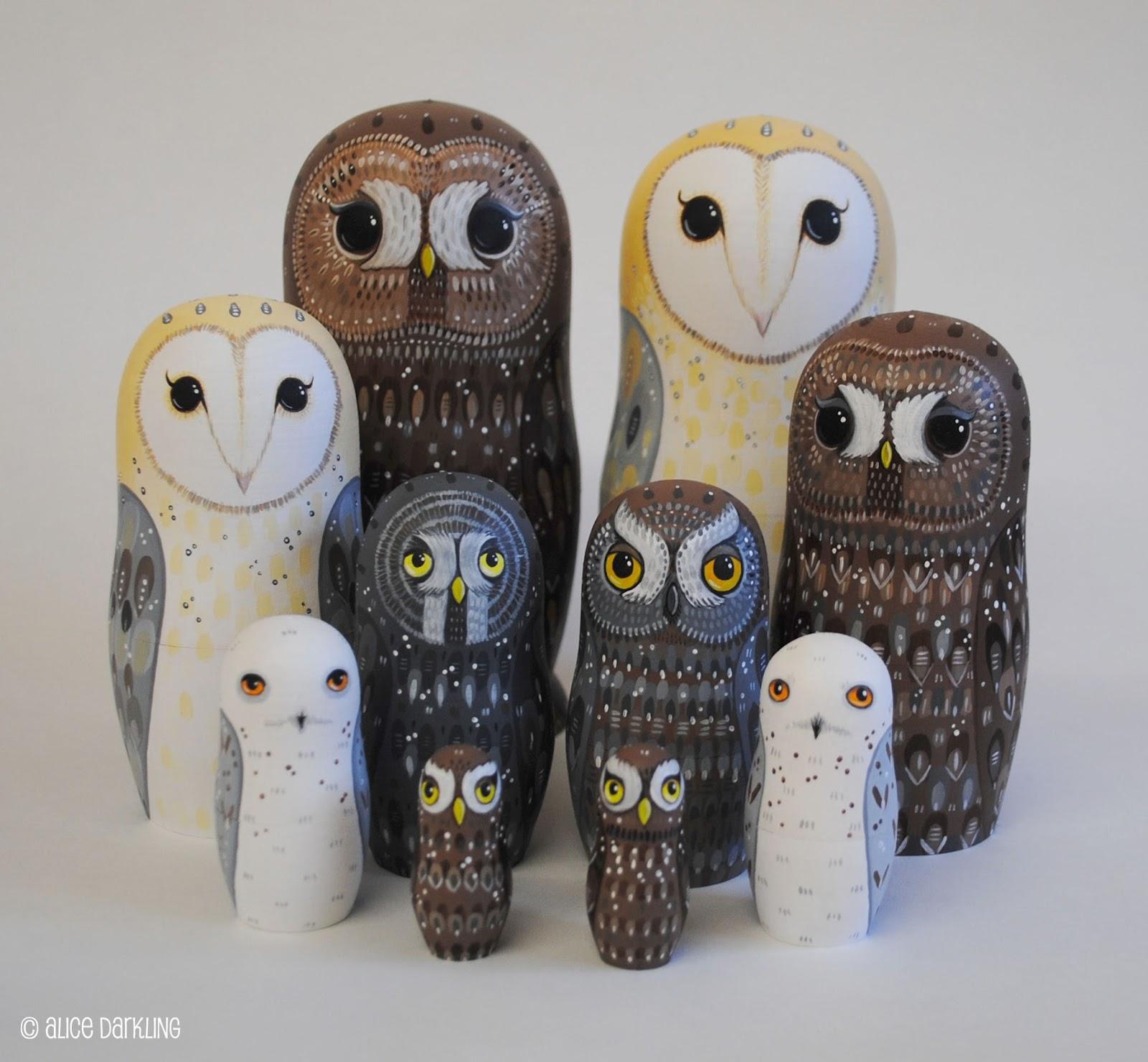 Russian Nesting Dolls Owls Owl Nesting Russian Matryoshka