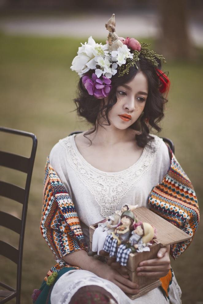 Mori Girl Chi Pu hóa thành búp bê Nhật Bản