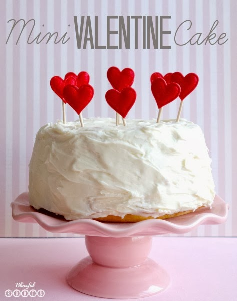 Mini Valentine Cake from Blissful Roots
