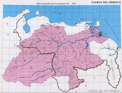 Mapa de la cuenca del ORINOCO