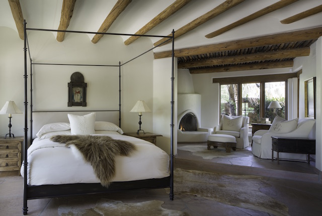 In This Historically Accurate Hacienda Bedroom Our Client Purchased Great Mongolian Fur Throws And Cowhide To Make For A Natural Surrounding