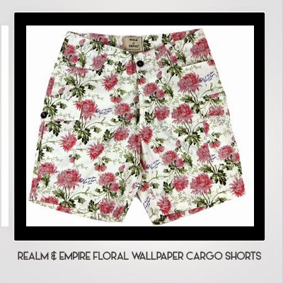 Realm & Empire Floral Wallpaper Cargo Shorts