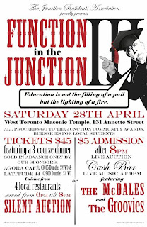 Function in the Junction 2012, Toronto JRA's Fundraiser on April 28, 2012 at West Toronto Masonic Temple