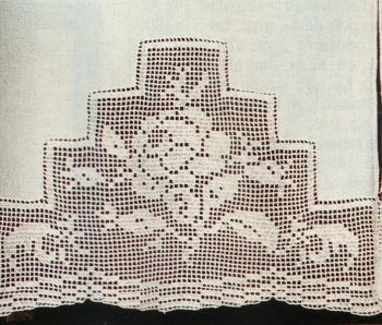 Professione Donna: Tenda di lino con bordo a filet