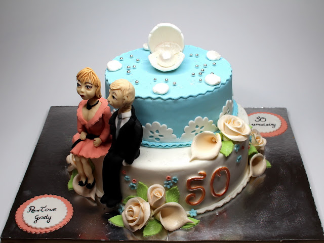 50th Wedding Anniversary Cake, London