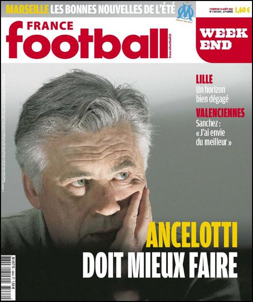 France Football Week-end N°3464Bis - 31 Aout 2012 [Lien Direct]
