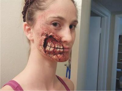 maquiagem em forma de ferida