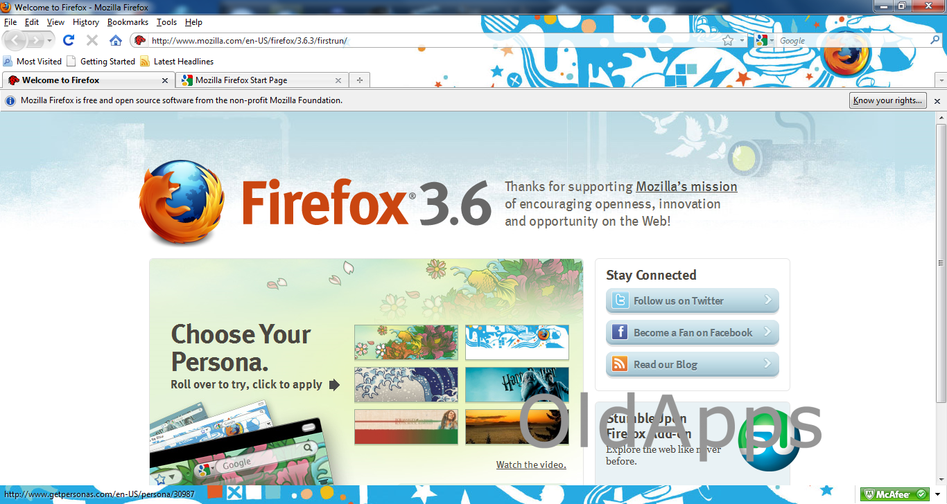 Mozilla Firefox 3.6.3 Free Download For Windows Xp