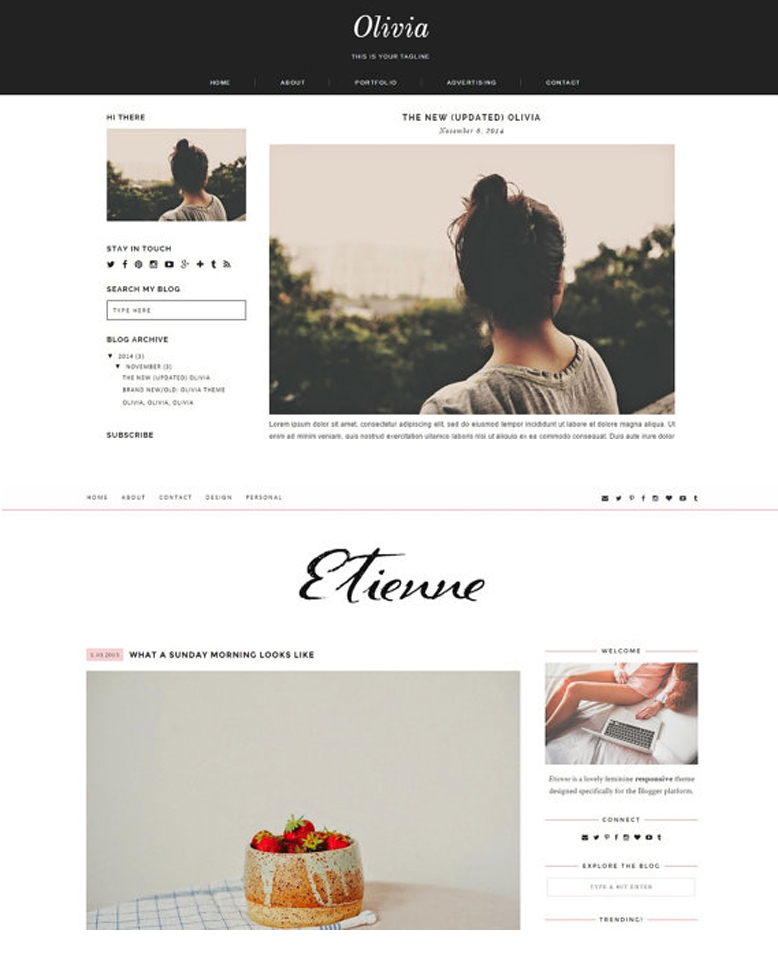 Intro to minimalist blog layouts an interview with for Minimalist web design